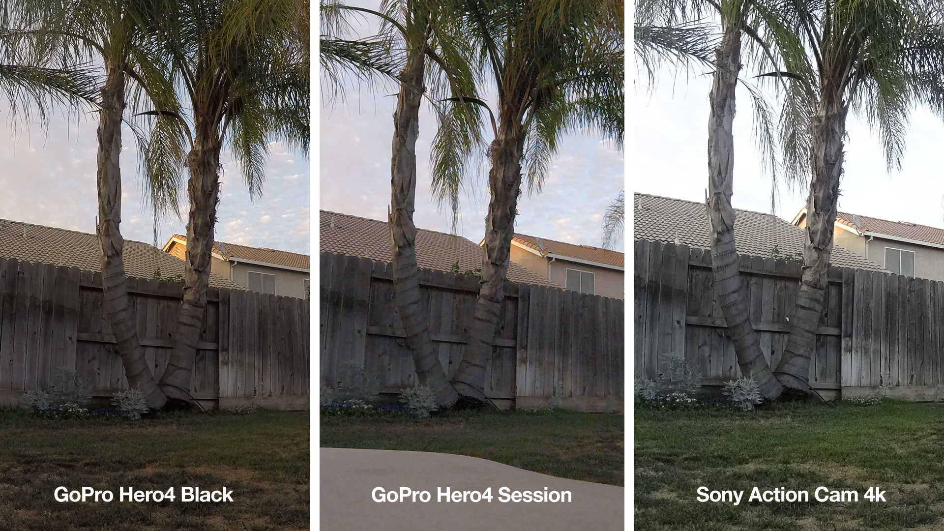 GoPro Hero4 Session vs GoPro Hero4 Black vs Sony 4K Action Cam