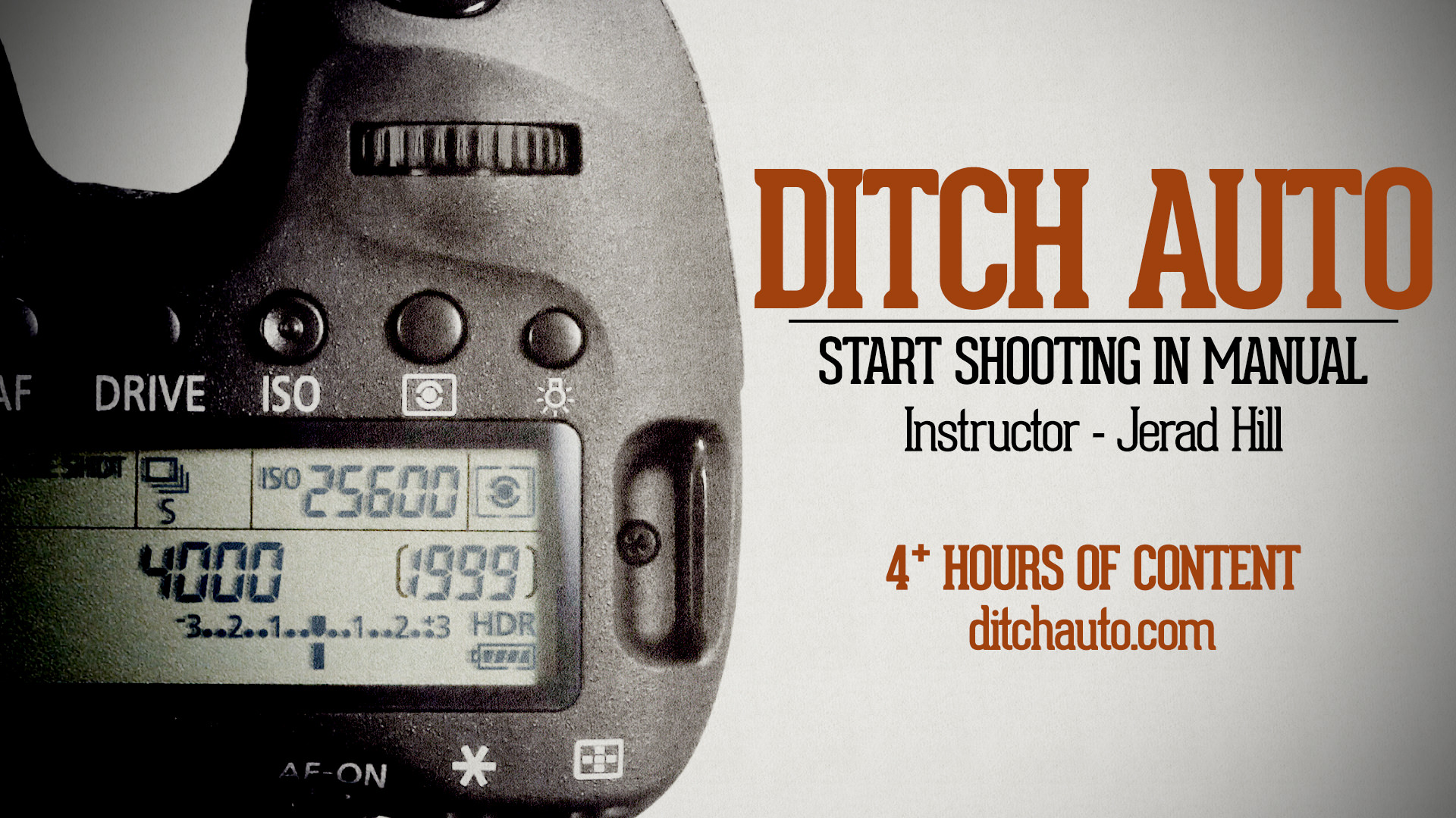 Ditch Auto - Start Shooting in Manual Course