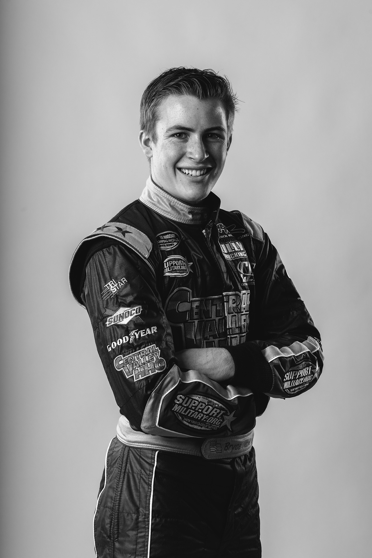 NASCAR Black and White Photo