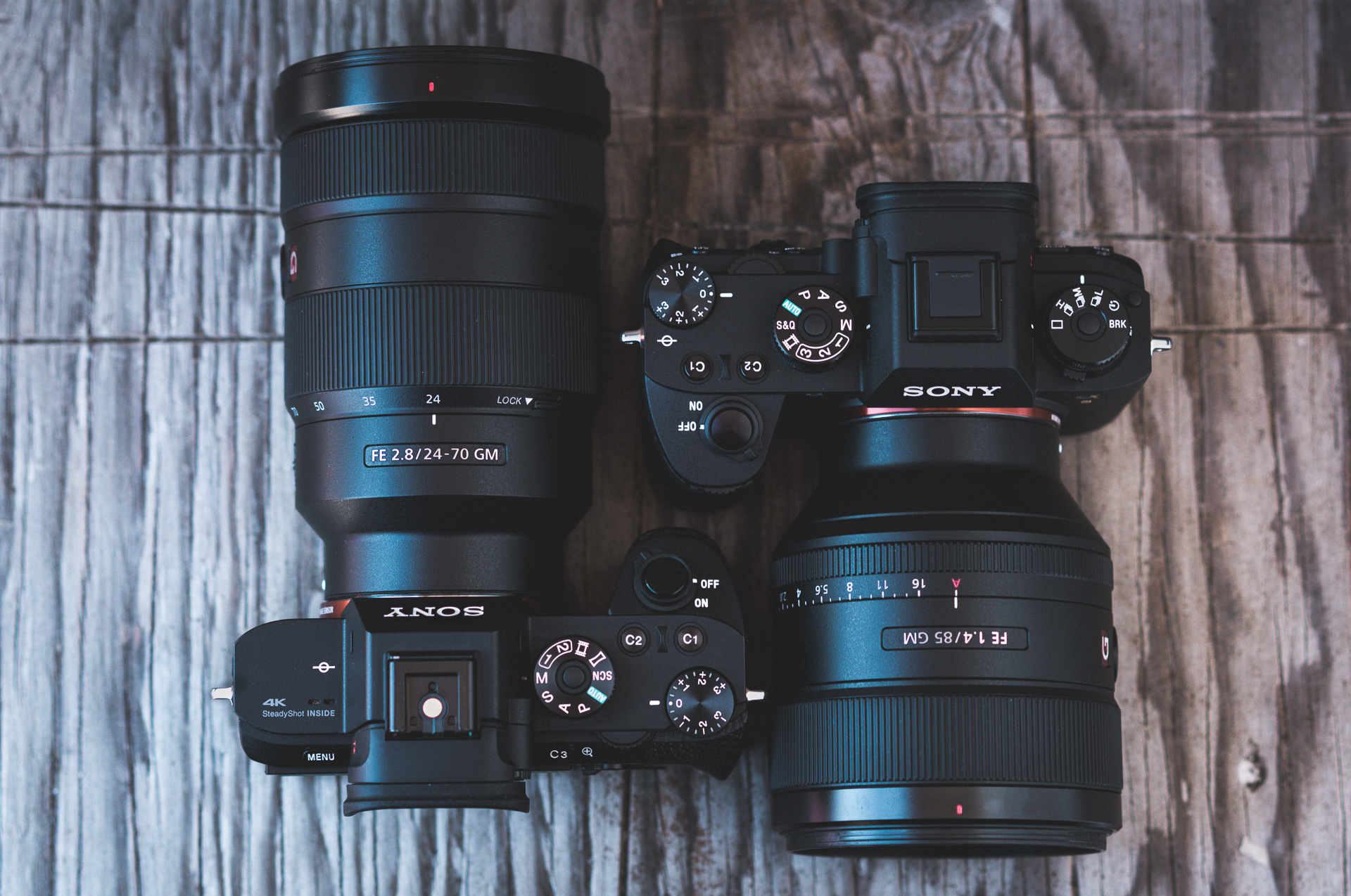Sony a9 Camera + Sony FE 85mm f/1.4 GM Lens & Sony a7rII + Sony FE 24-70mm f/2.8 Lens