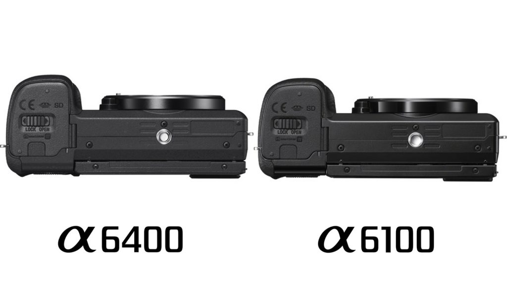 Sony a6100 vs a6400 Comparison Body Bottom