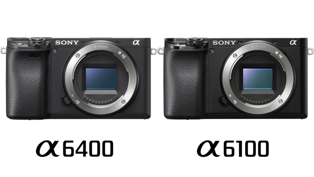 Sony a6100 vs a6400 Comparison Front Body