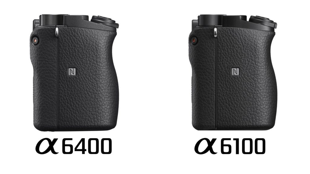 Sony a6100 vs a6400 Comparison Body Grip Side